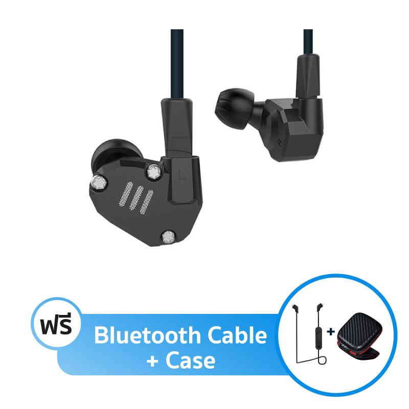 ชุดหูฟัง KZ ZS6 + สาย Bluetooth + เคส