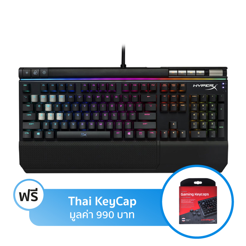 คีย์บอร์ด HyperX Alloy Elite RGB Mechanical Keyboard Red Switch