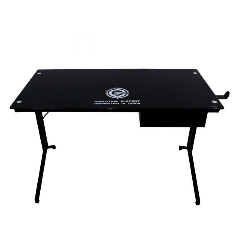 โต๊ะเล่นเกม Neolution E-Sport Gaming Desk Taurus Black Tempered Glass