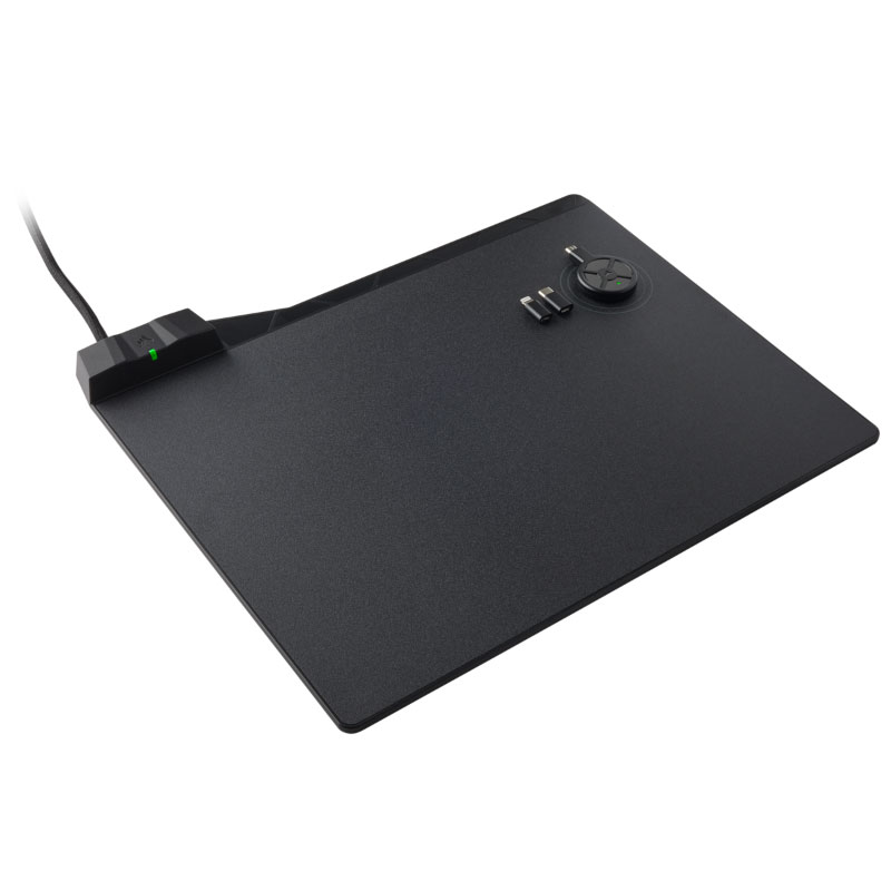 แผ่นรองเมาส์ Corsair MM1000 QI Wireless Chaging Mouse Mat