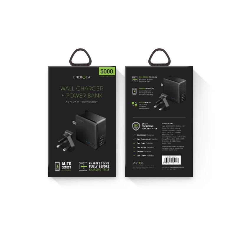ตัวแปลงไฟ Energea Travelite Power Back 5000mAh With 2 USB (17W3.4A) ราคา