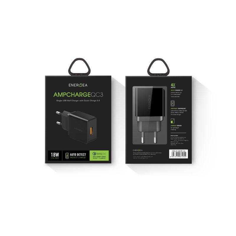 แท่นชาร์จ Energea Wall Charger Ampcharge QC3.0 Single USB 18W (EU) รีวิว