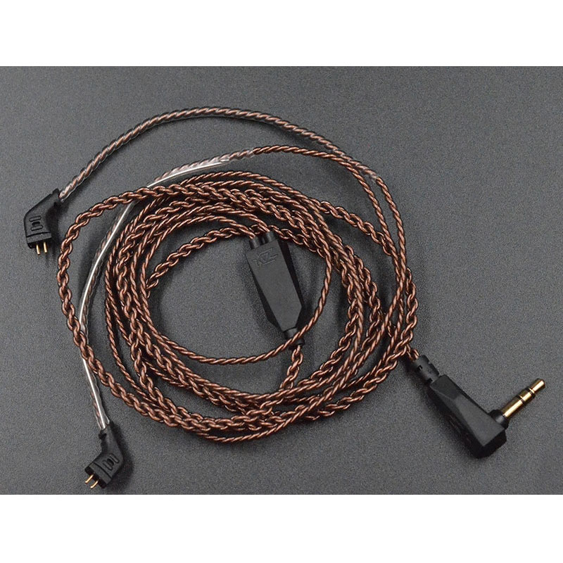 สายอัพเกรด KZ Copper สายถัก ขั้ว 2 pin ขั้ว B สำหรับ ZST / ZSR / ES3/ ES4 / ZS10 /AS10 / BA10 / ED12 / AS06