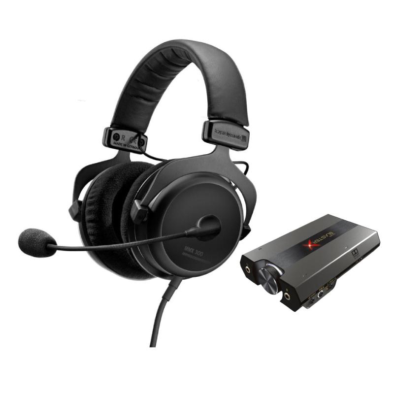 ชุดหูฟังเล่นเกม Beyerdynamic MMX300 + Creative G6
