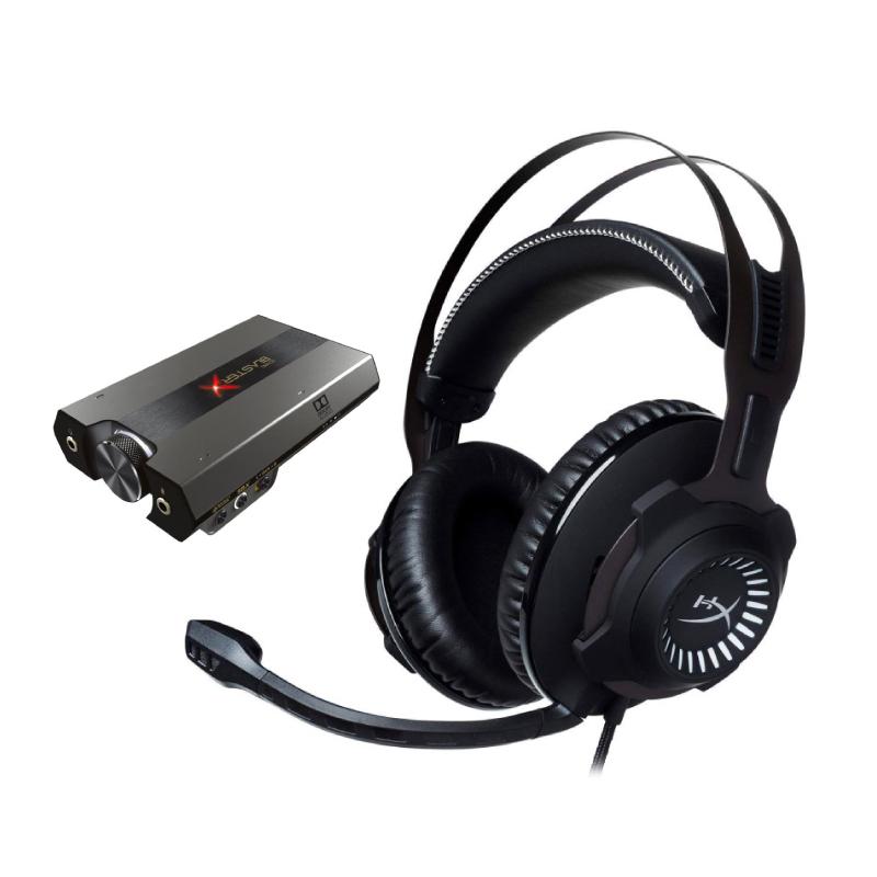 ชุดหูฟังเล่นเกม HyperX Cloud Revolver + Creative G6