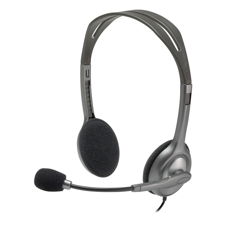 หูฟัง Logitech H111 Stereo On-Ear Headset Black