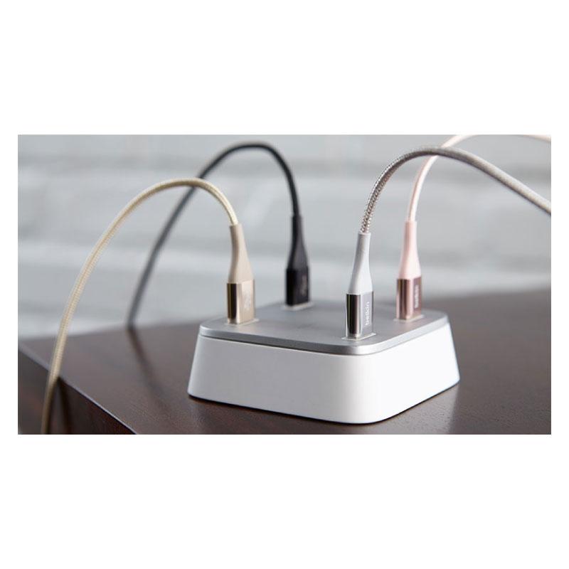 สายแปลง Belkin Mixit DuraTek Aluminum 2.0 USB-A to USB-C Sync and Charge Double Nylon Braided Cable Built with Kevlar ซื้อ-ขาย